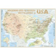 Landkarte: Whiskey Distilleries in USA