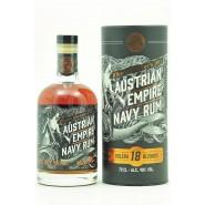 Austrian Empire Navy Rum 18 Jahre mit 2 Gläsern