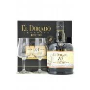 El Dorado Rum 15 Jahre mit Gläsern