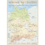 Landkarte: Whisky Destilleries D/A/CH