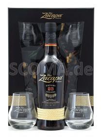 Zacapa 23 Solera Gran Reserva mit 2 Gläsern