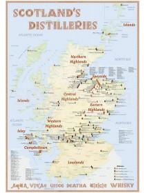 Landkarte Scotland's Distilleries