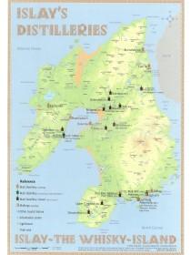 Tasting Map: Whisky Destilleries Islay