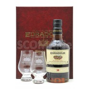 Edradour 10 years with 2 glasses