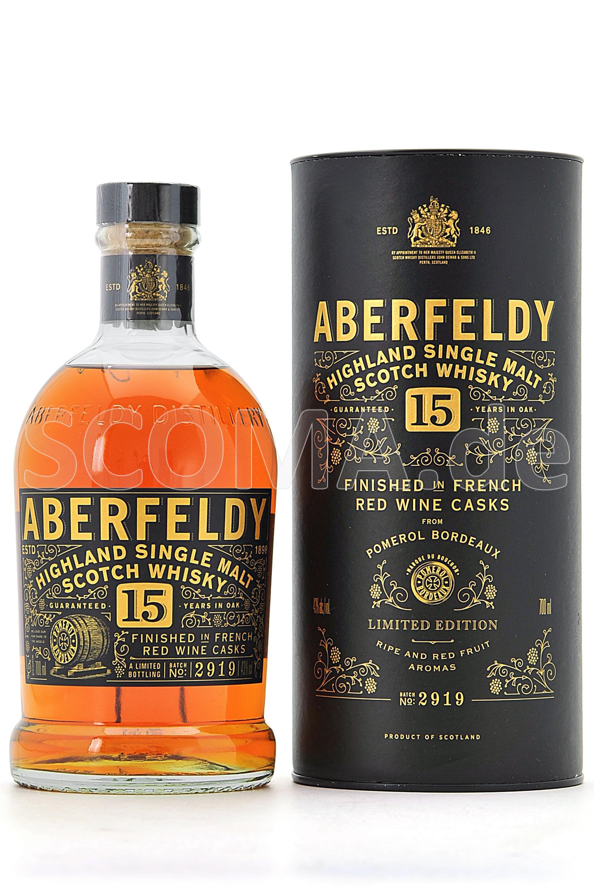 Aberfeldy 15 Jahre Red Wine Ca...