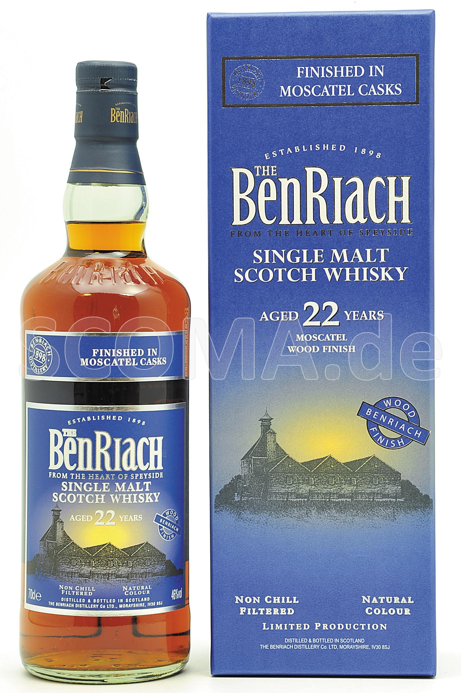 BenRiach 22 years Moscatel Cas...