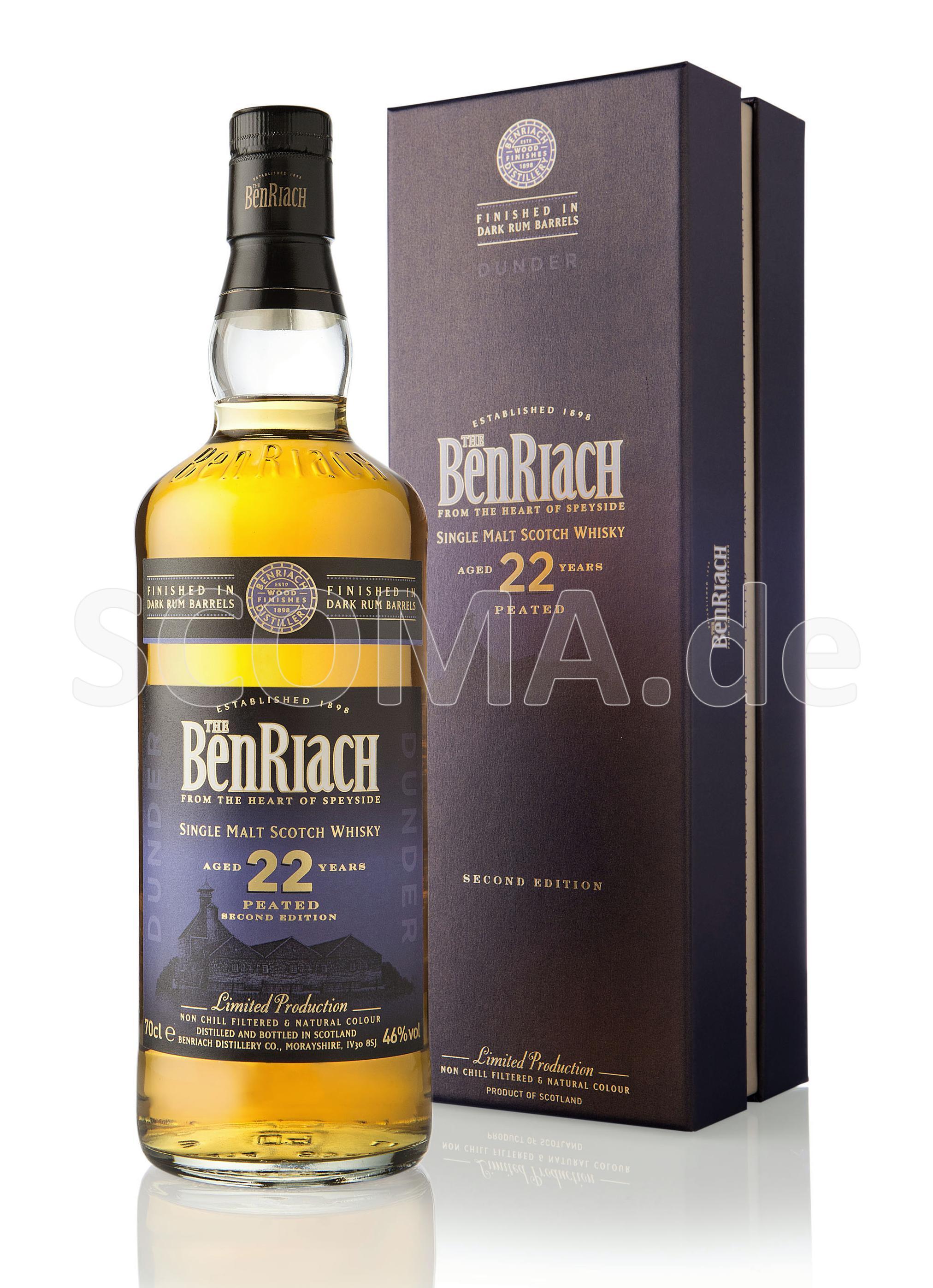 BenRiach 22 Jahre Dunder Peate...