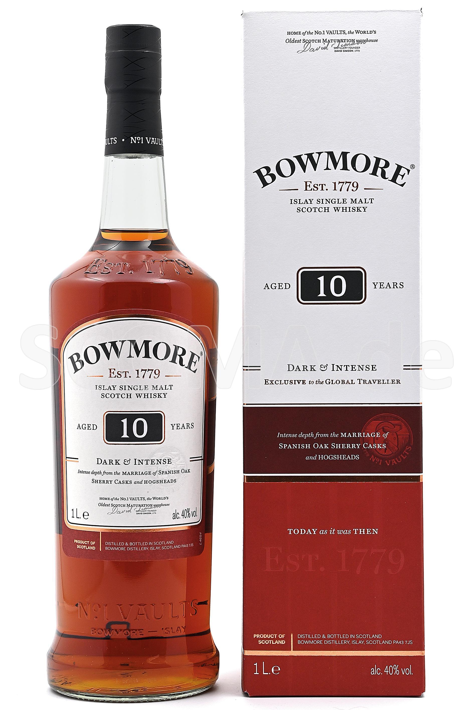 Bowmore 10 Jahre Dark & Intens...