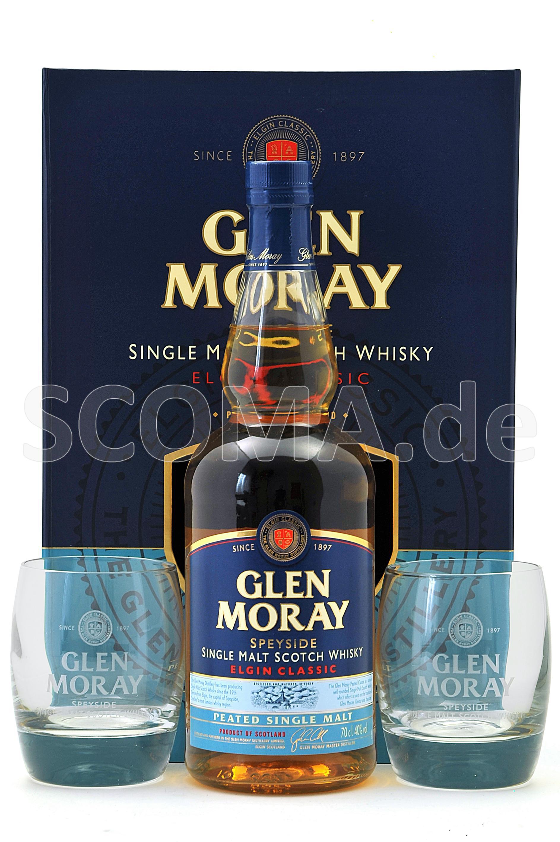 Glen Moray Peated mit 2 Tumble...