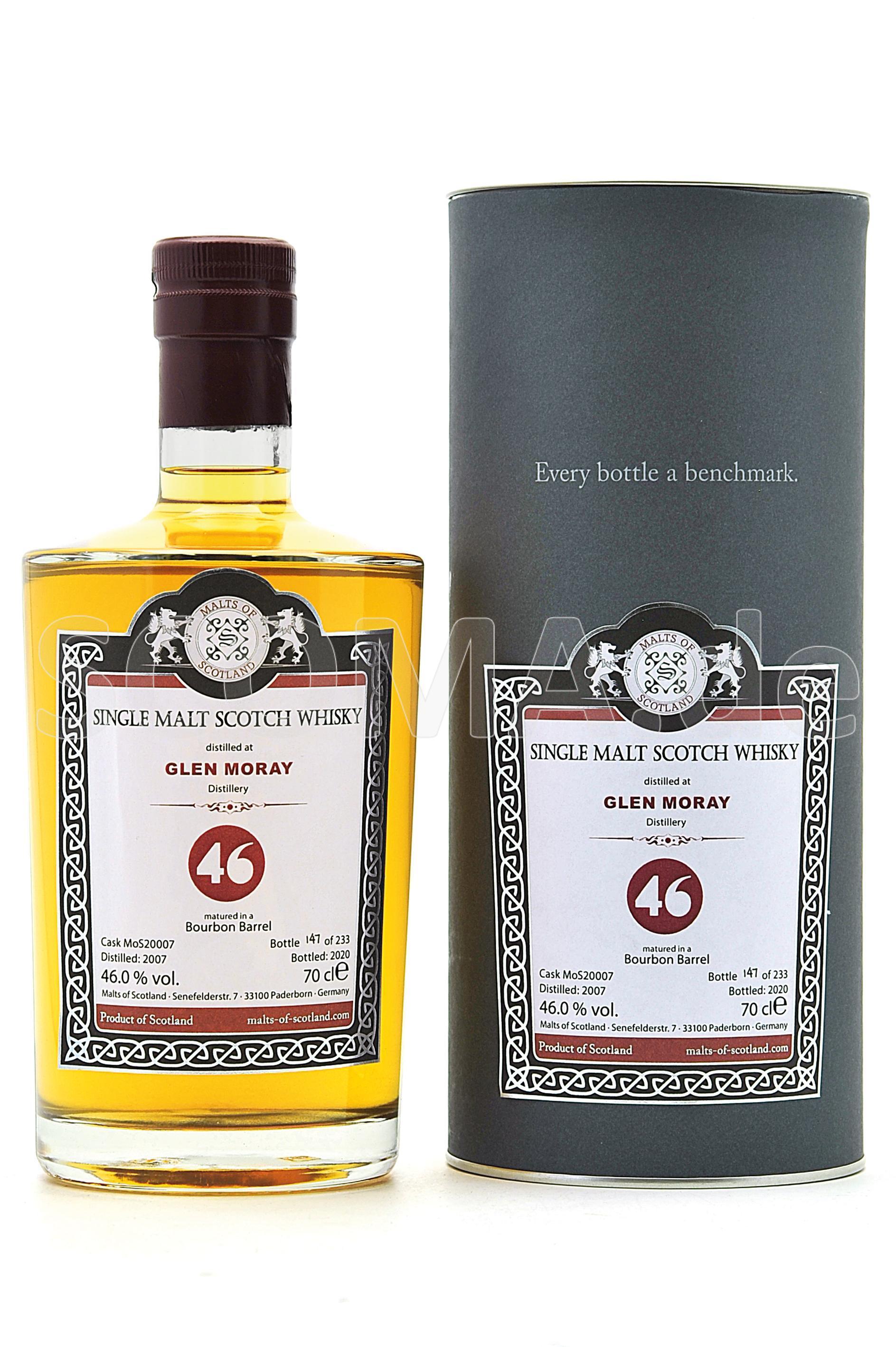 Glen Moray 2007/2020 Bourbon B...