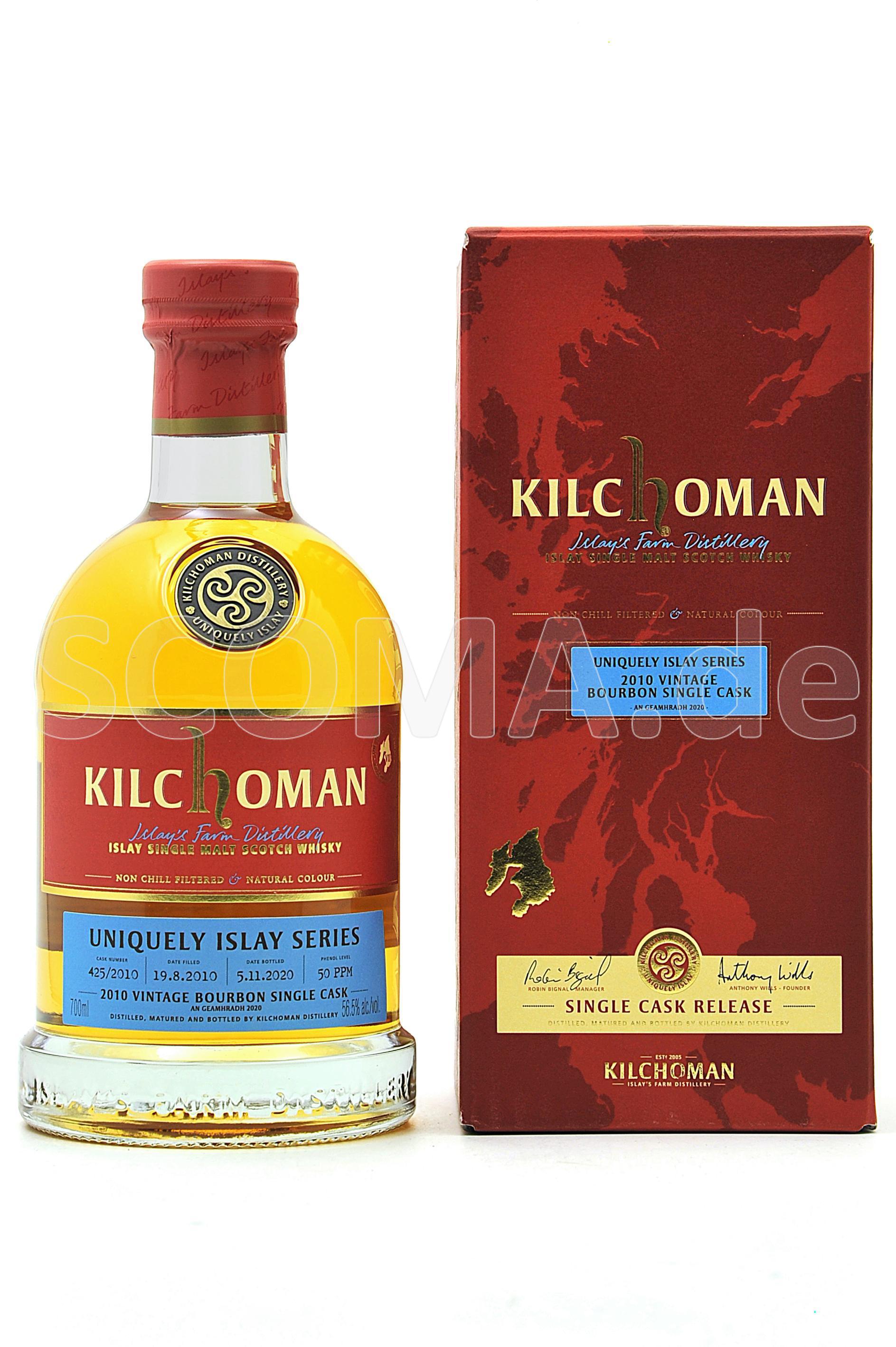 Kilchoman Vintage 2010 Bourbon...