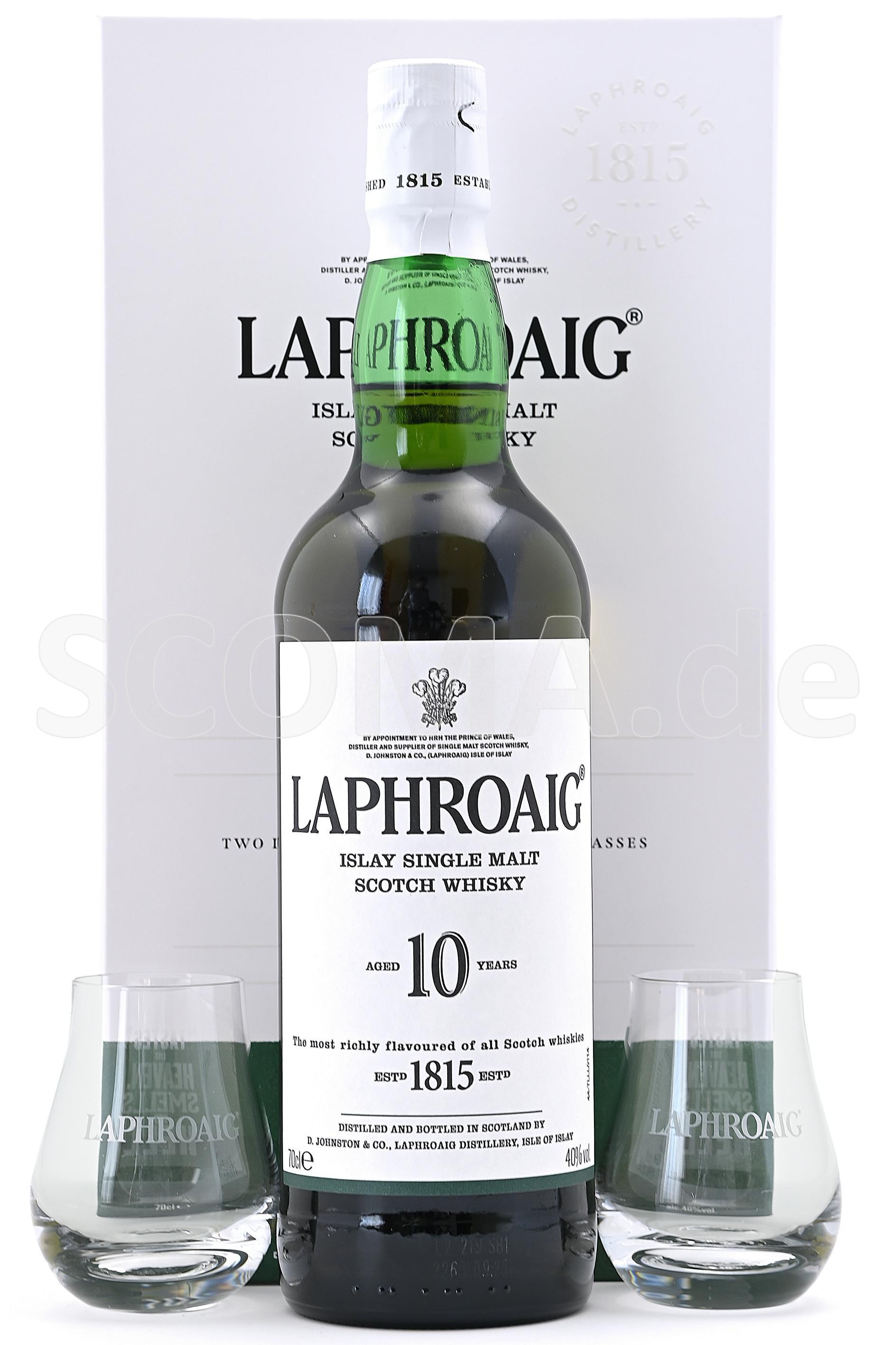 Laphroaig 10 Jahre mit Gläser...