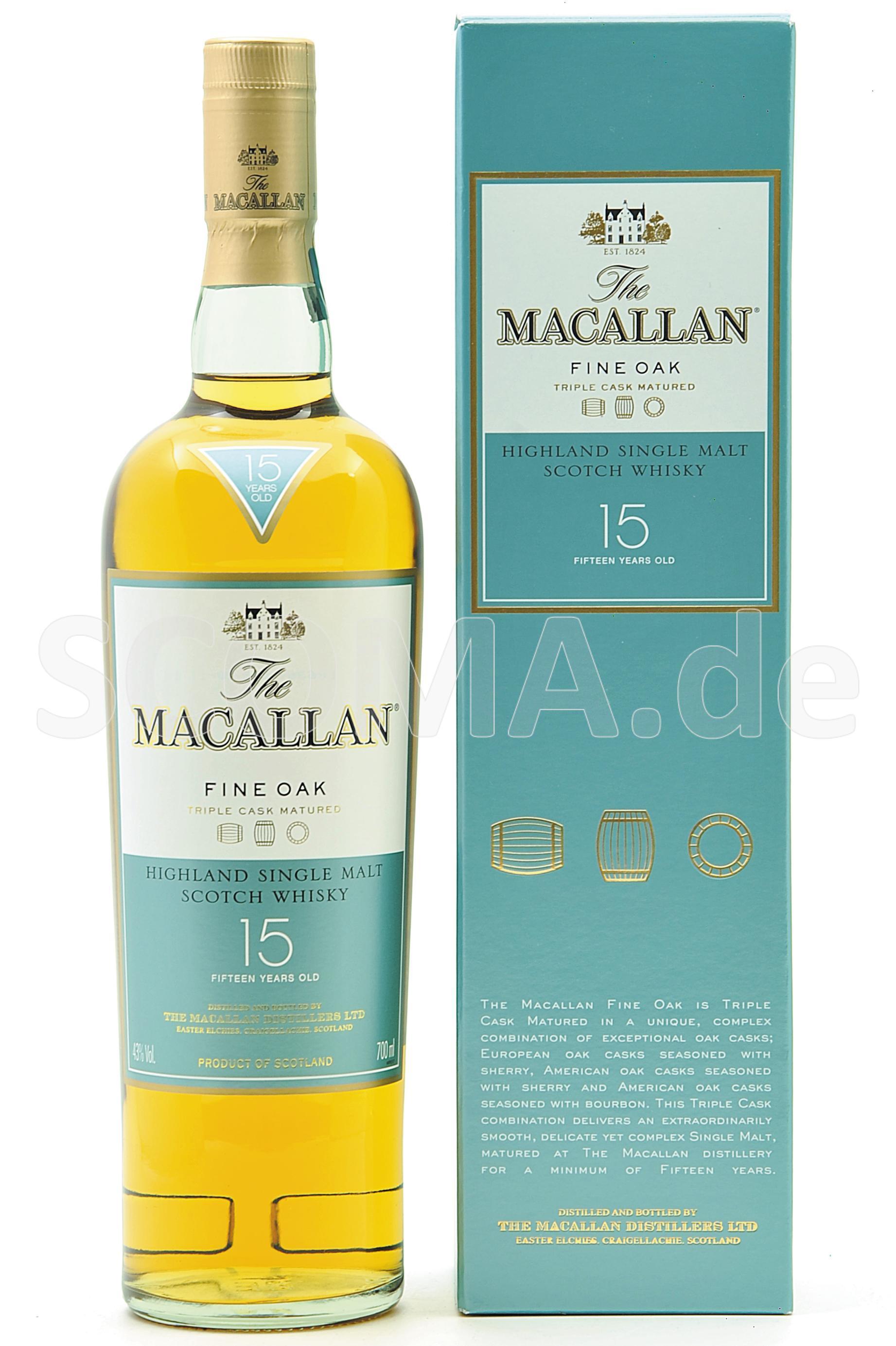 Macallan 15 Jahre Fine Oak