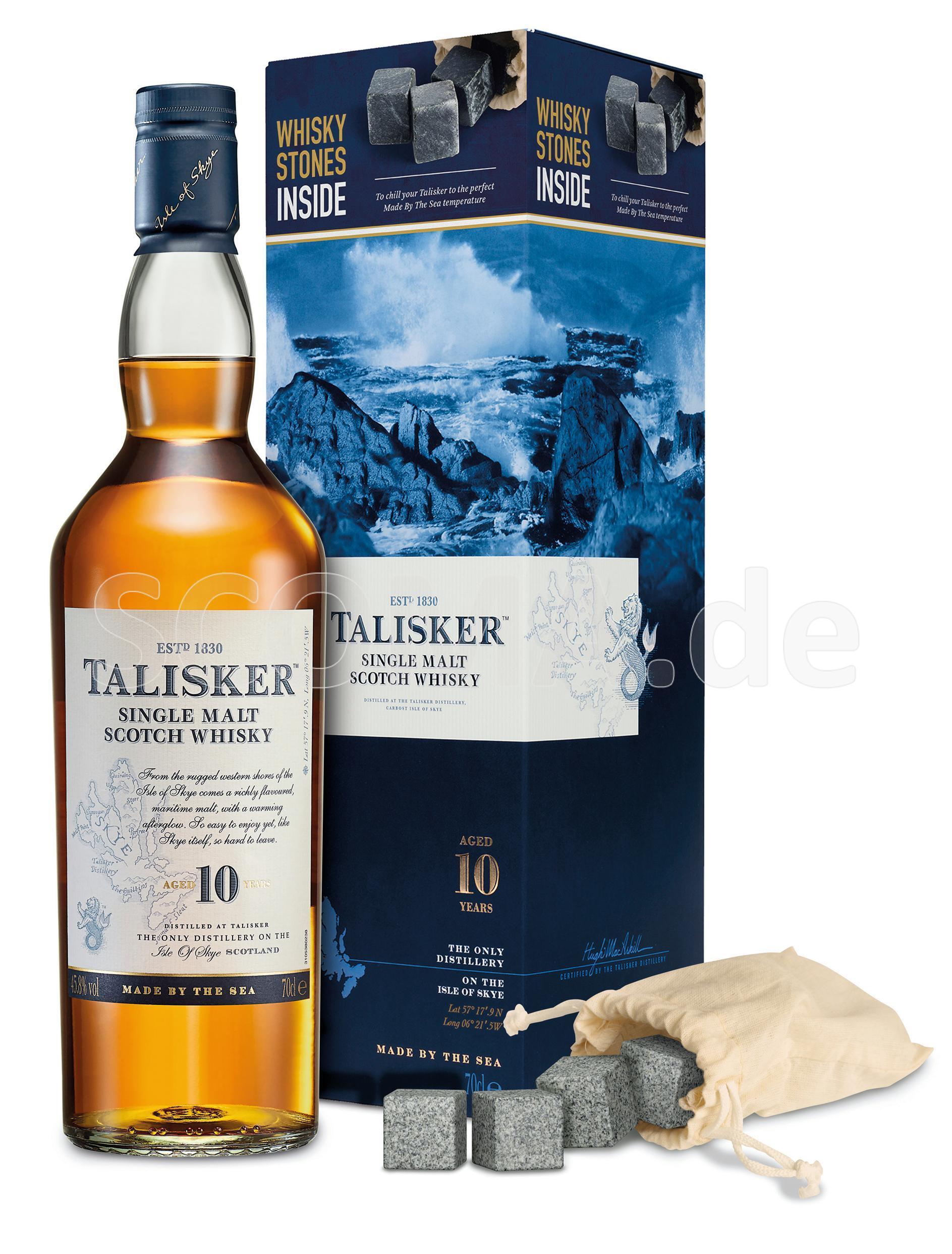 Talisker 10 Jahre mit Whisky-S...