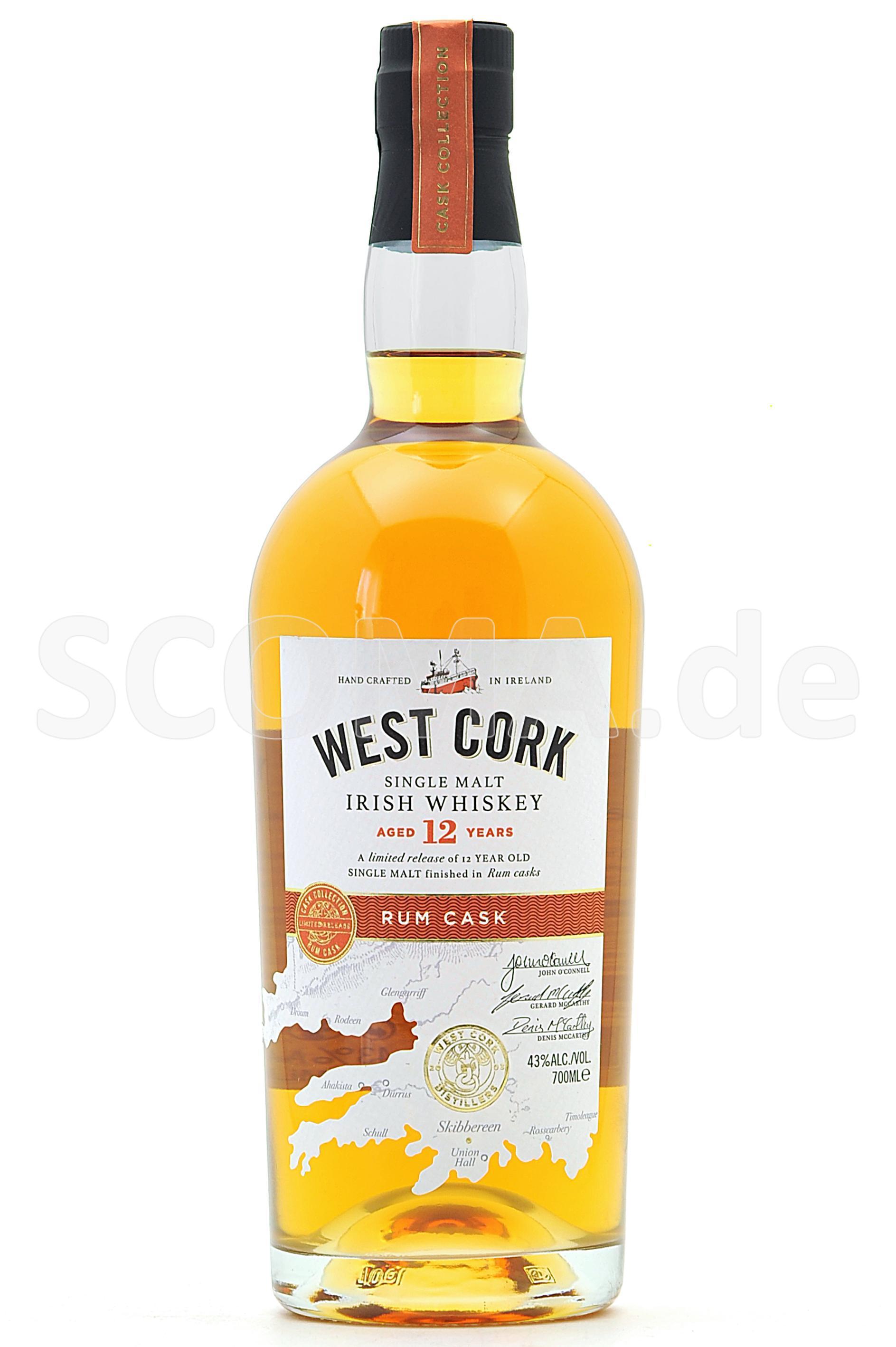 West Cork 12 Jahre Rum Cask Fi...