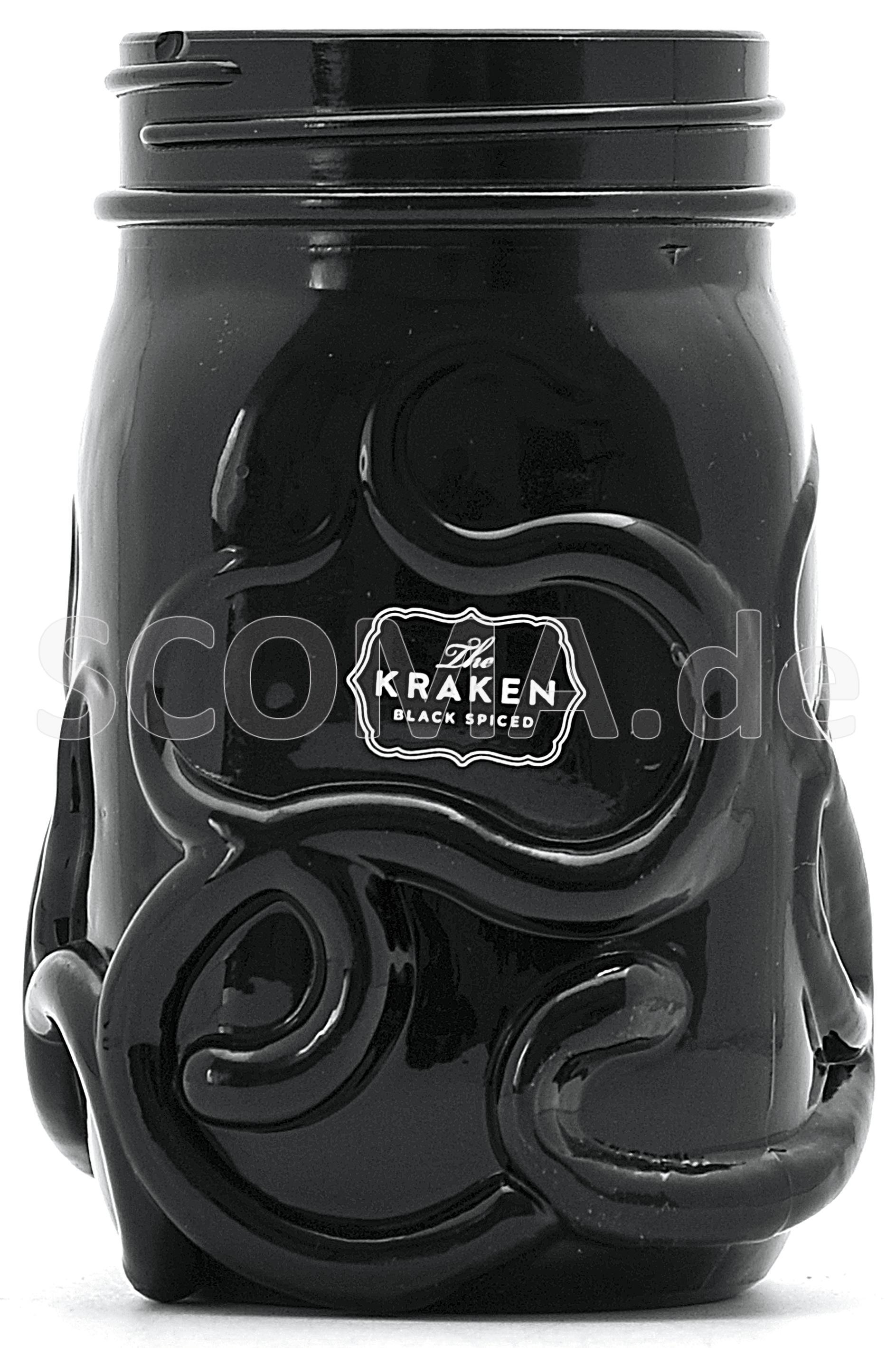 Kraken Glaskrug schwarz