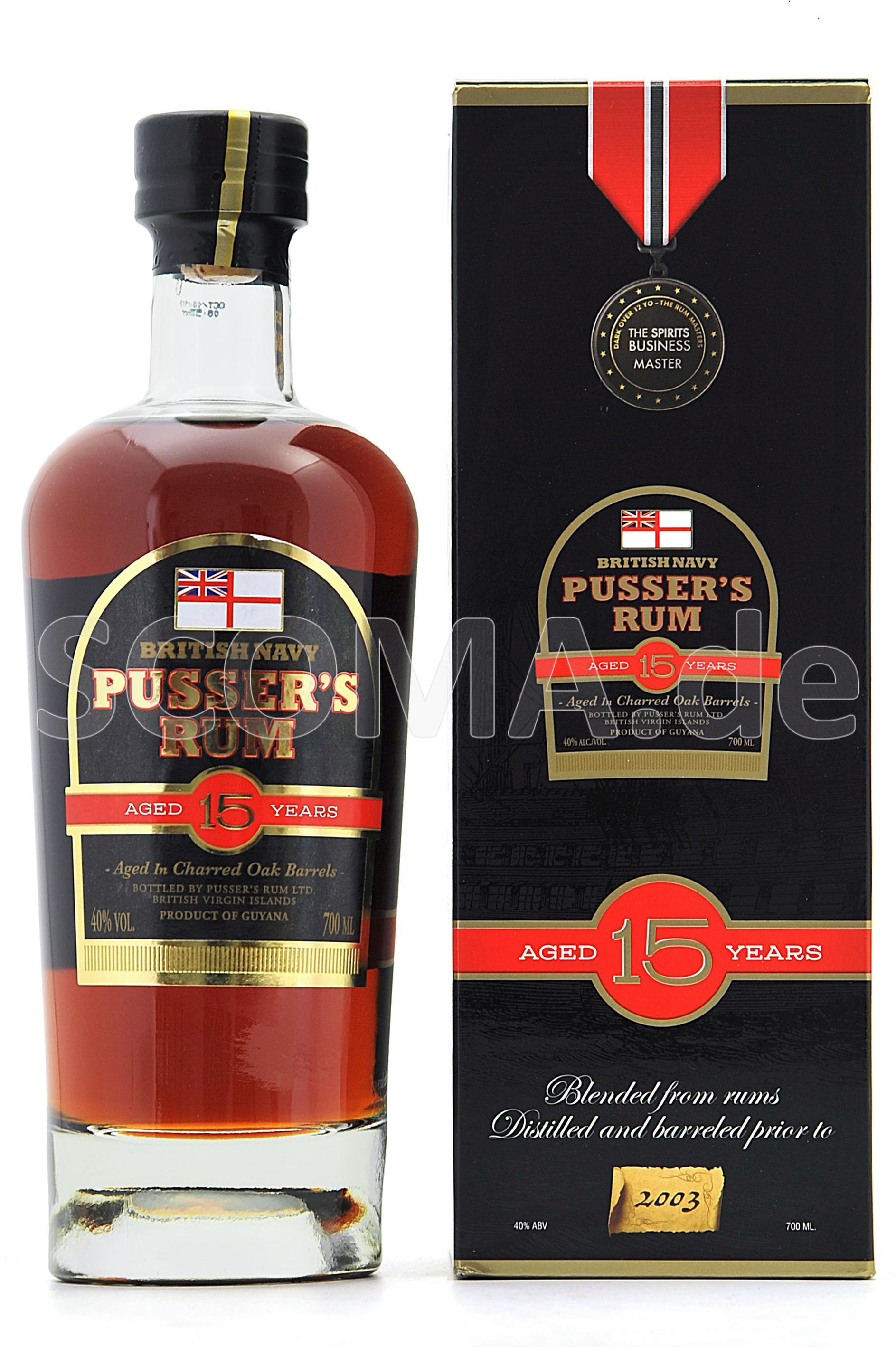 Pusser's British Navy Rum 15 J...