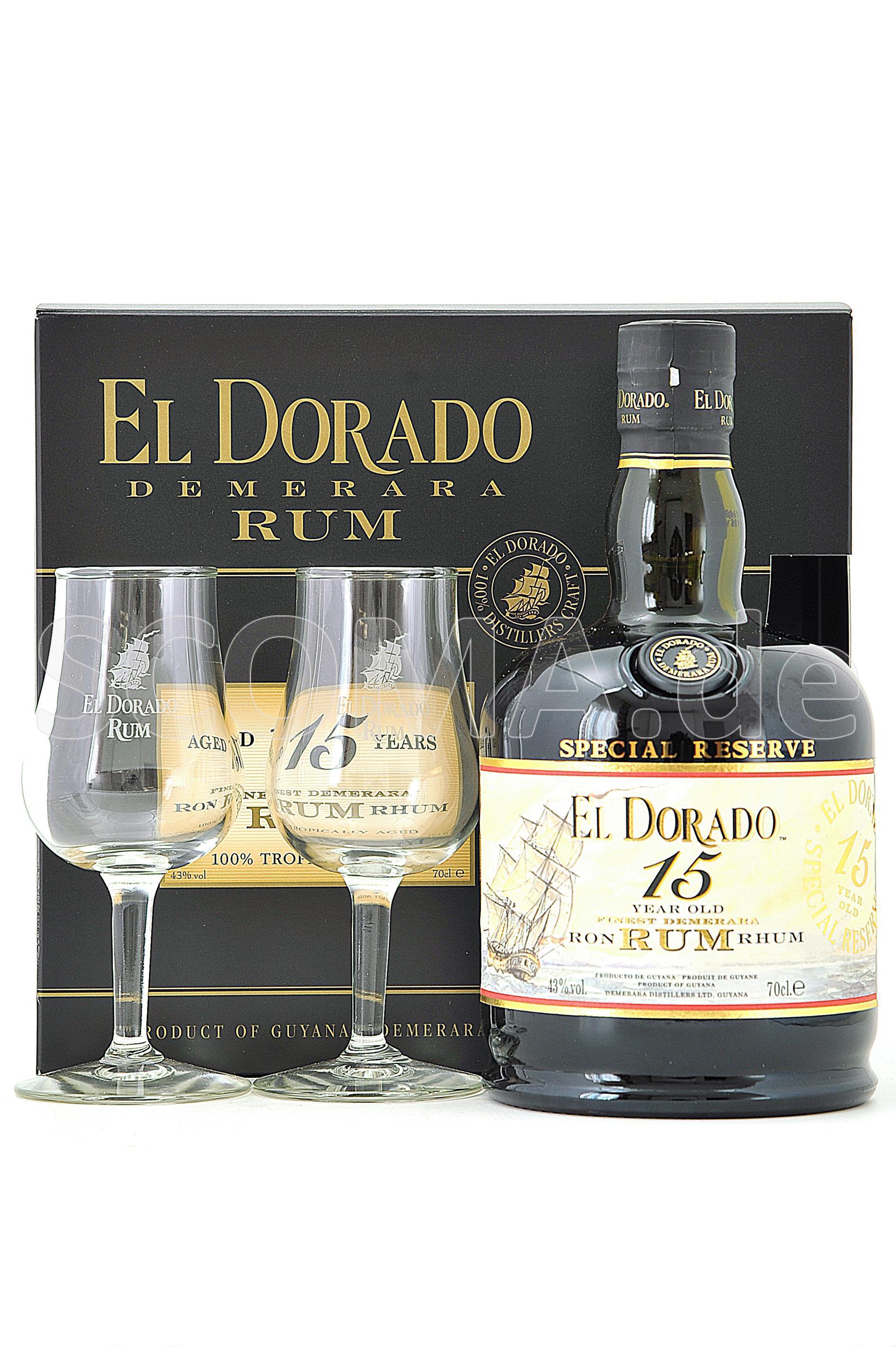 El Dorado Rum 15 Jahre mit Gl�...