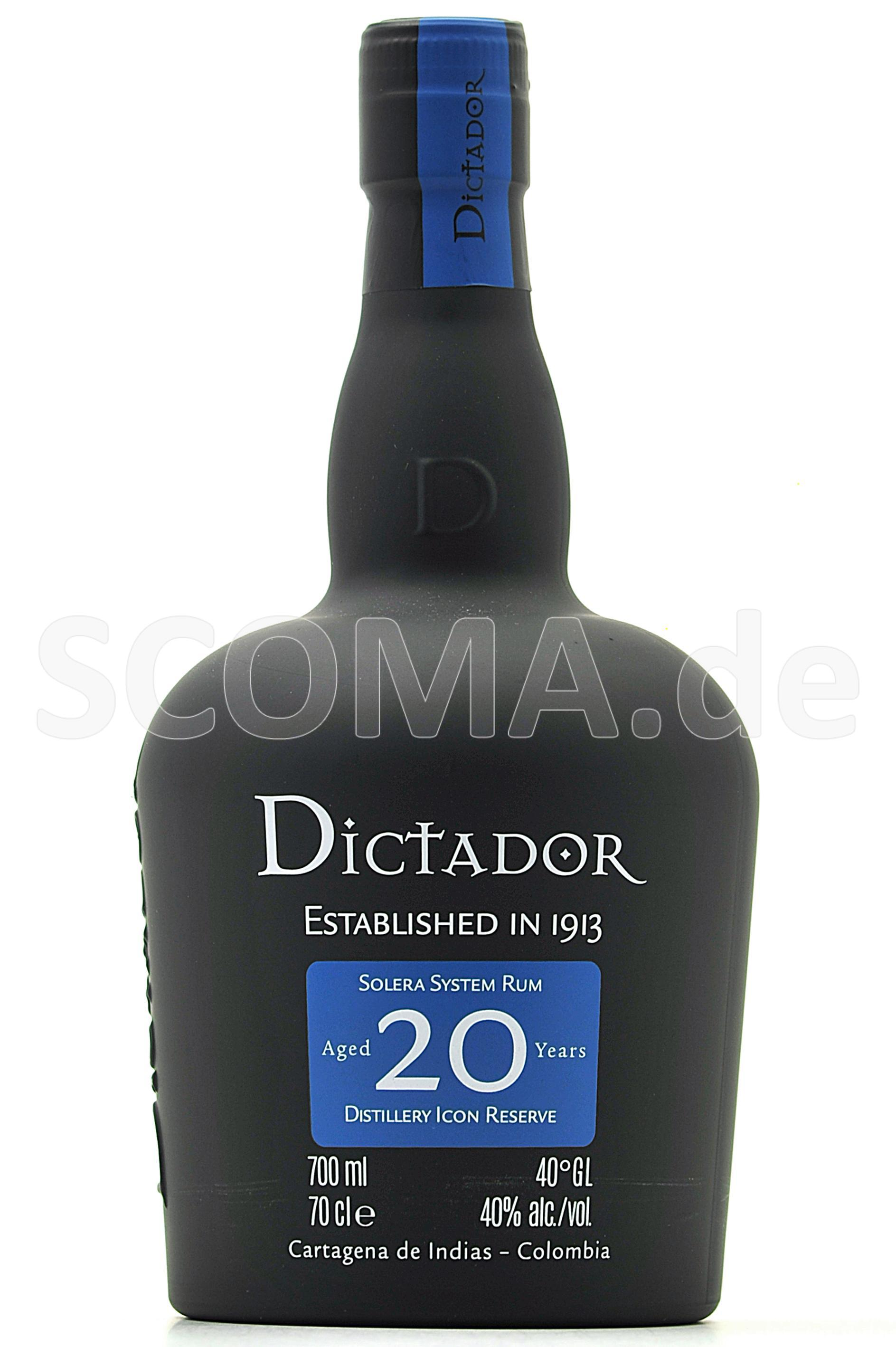 Dictador Solera Rum 20 Jahre