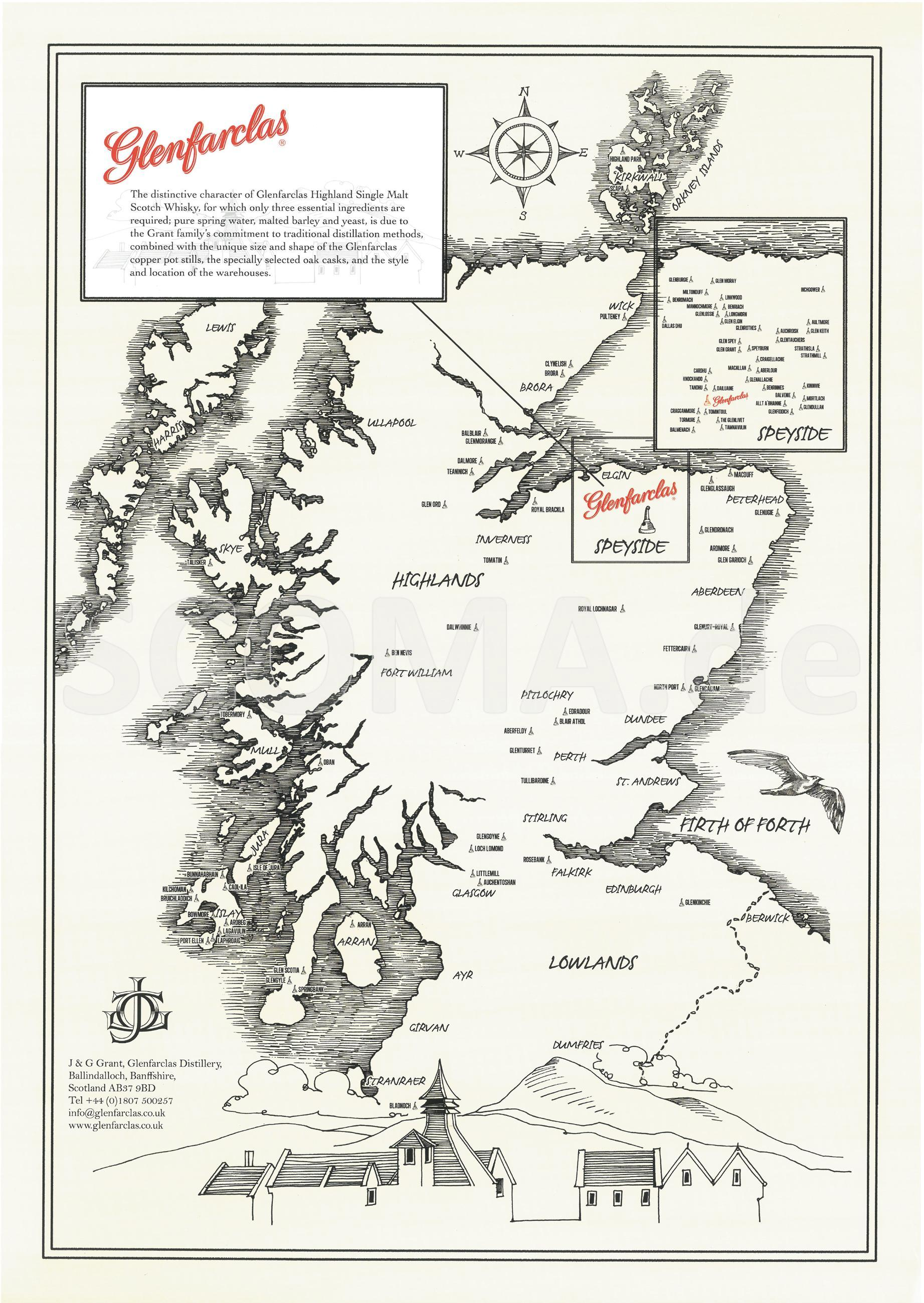 Glenfarclas Map -Distilleries